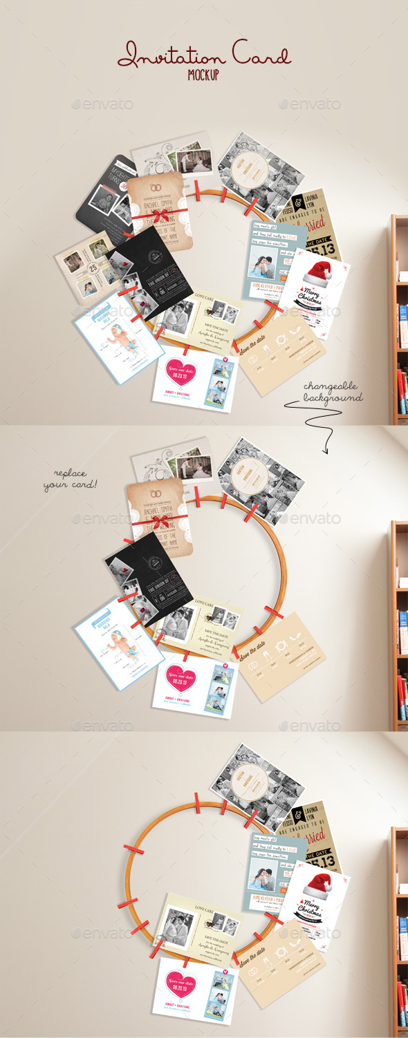 Invitation Card Mockup - Print Product Mock-Ups