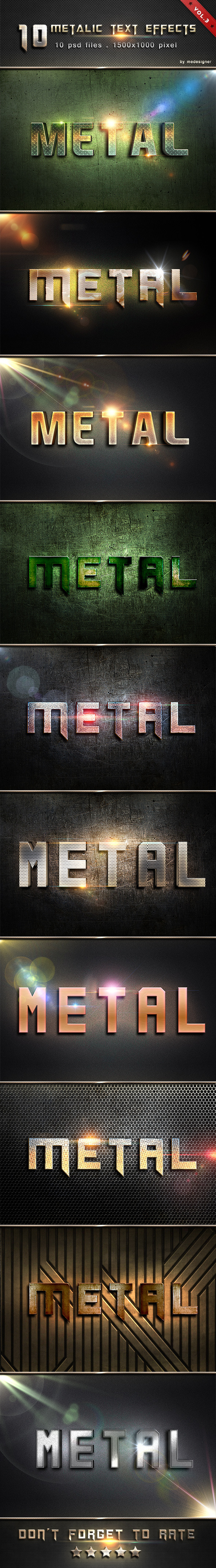 Metalic Text Effects V.3 - Text Effects Styles