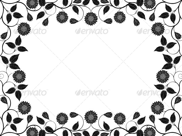 Abstract floral frame - Flowers & Plants Nature