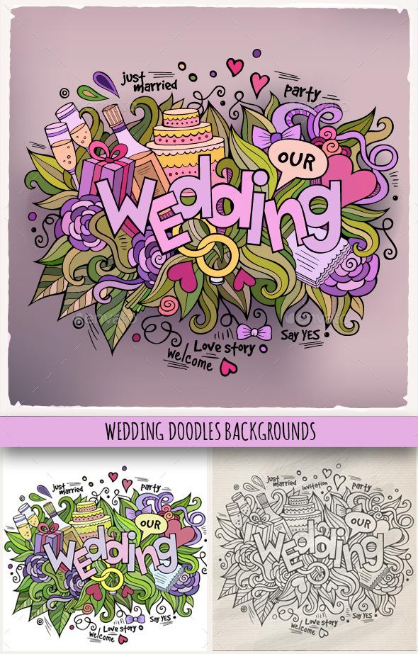 3 Wedding Doodles Designs - Weddings Seasons/Holidays