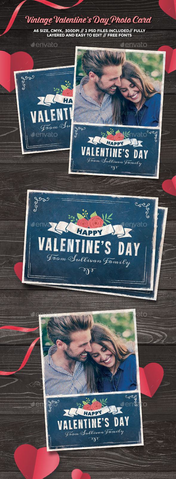 Vintage Valentine's Day Photo Card - Greeting Cards Cards & Invites