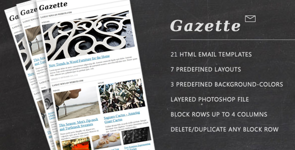 Free Download Gazette. Newsletter Template Nulled Latest Version