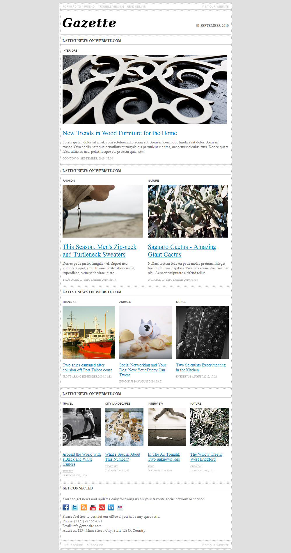 gazette  newsletter template by odincov
