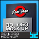 Realistic 3D Logo Mockup - V1 - GraphicRiver Item for Sale