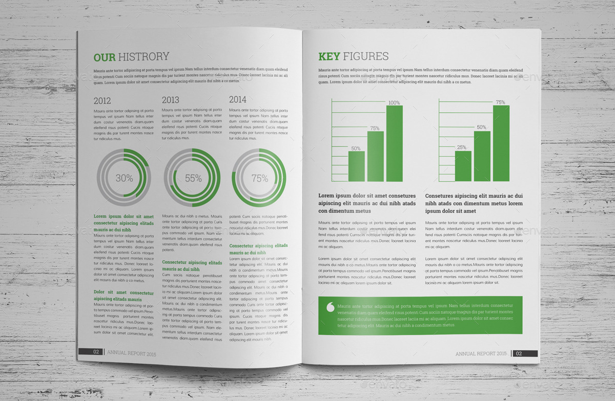 Annual Report Brochure Indesign Template V By JanySultana - Indesign template brochure