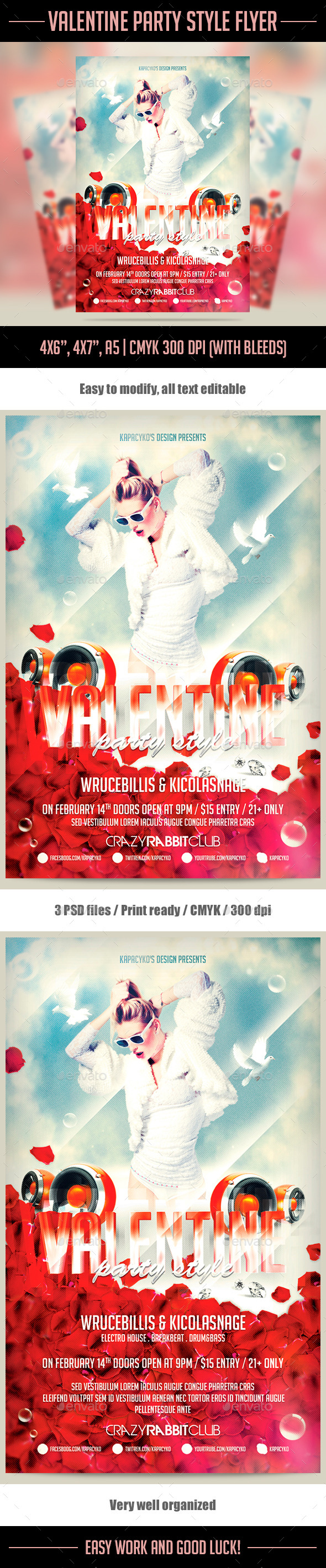Valentine Party Style Flyer - Holidays Events