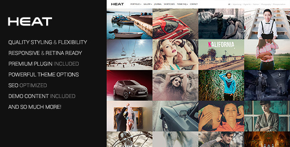 Heat - Portfolio WordPress Theme - Photography Creative
