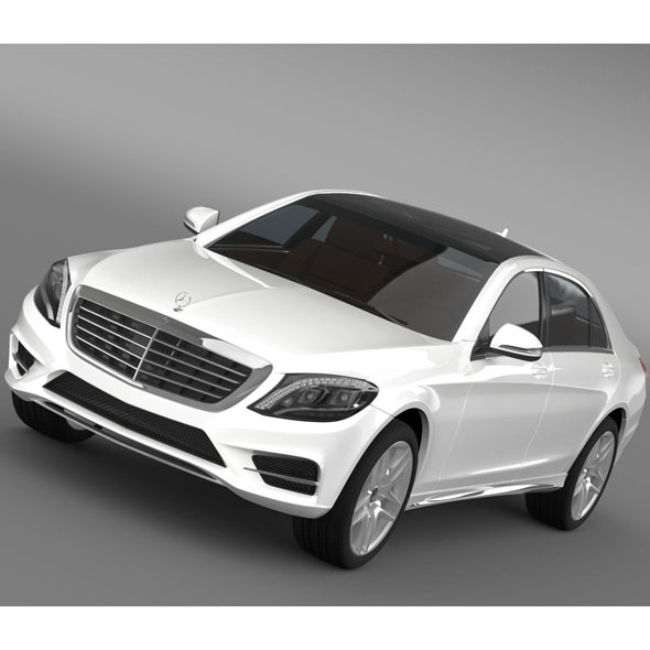 Mercedes Benz S 300 BlueTec Hybrid W222 2013 - 3DOcean Item for Sale