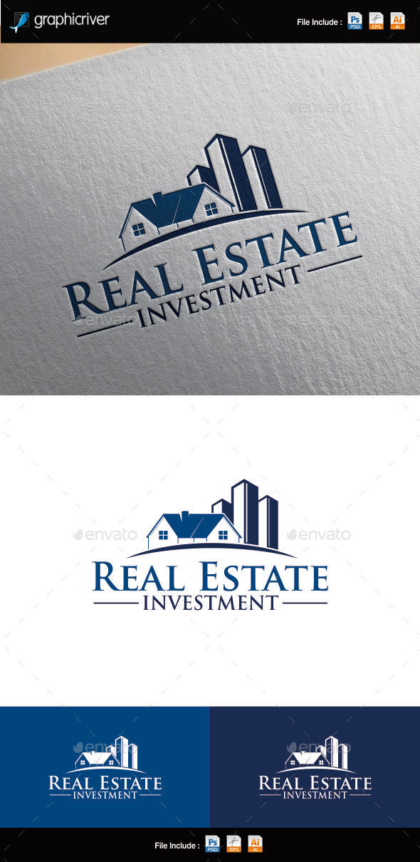 Real Estate Investment Logo Template - Buildings Logo Templates