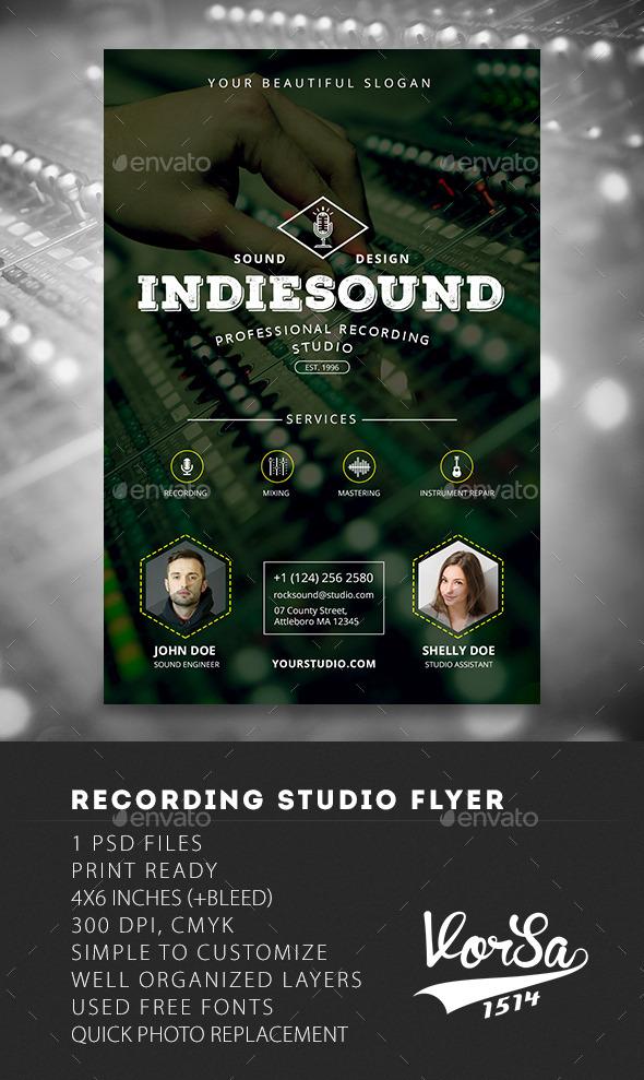 Recording Studio Flyer - Commerce Flyers