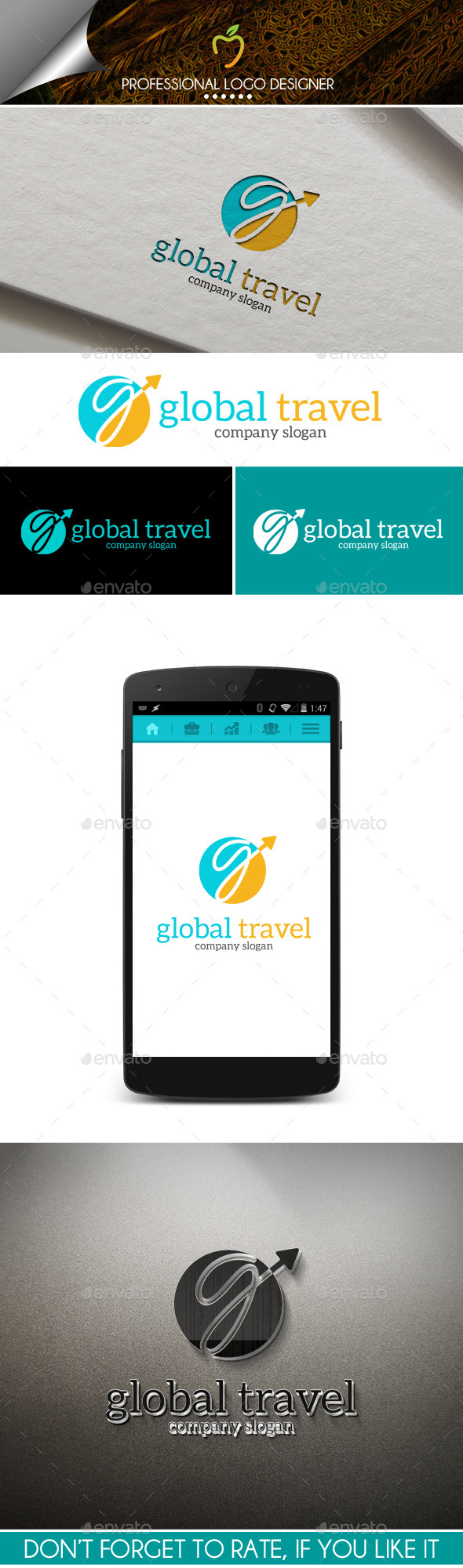 Global Travel Logo - Letters Logo Templates