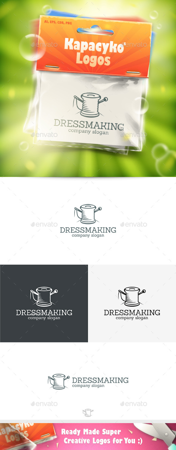 Dressmaking Logo - Abstract Logo Templates