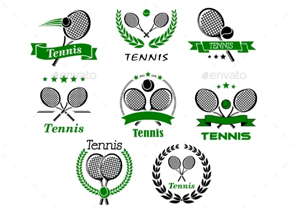 Tennis Emblems - Sports/Activity Conceptual