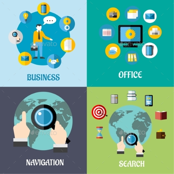 Navigation, Search and Business Flat Concepts - Web Technology