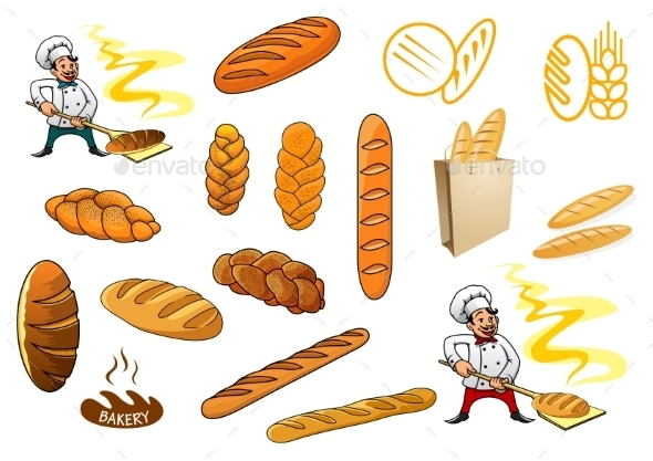 Bakers and Baguettes - Food Objects