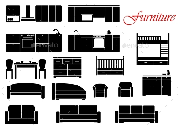 Assorted Home Furniture Set - Man-made Objects Objects