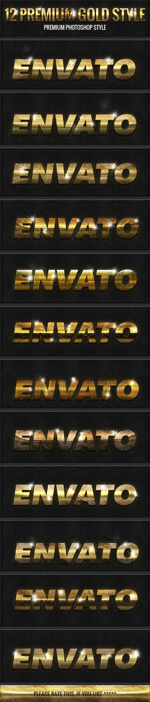 12 New Gold Style - Text Effects Styles