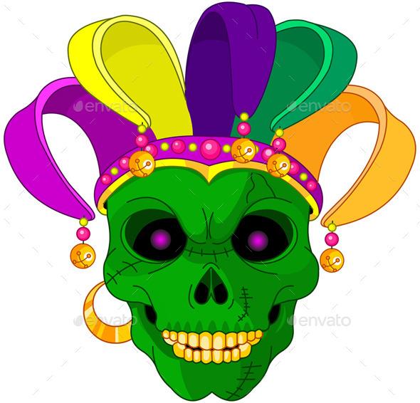 Mardi Gras Skull - Seasons/Holidays Conceptual