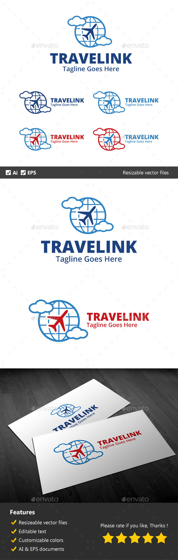 Travel Link - Objects Logo Templates