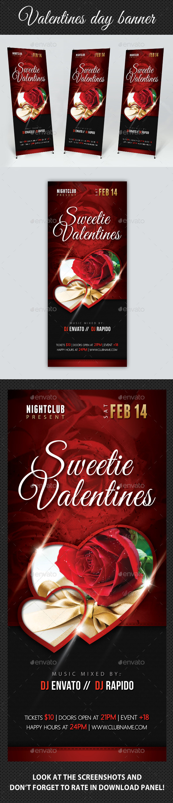Valentines Day Banner Template - Signage Print Templates