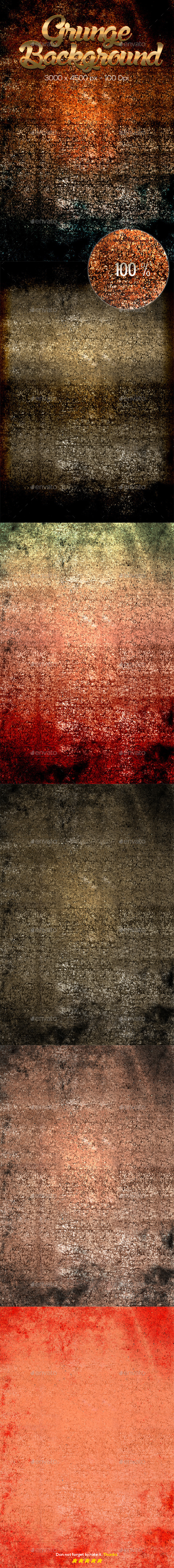 6 Grunge Texture Part 4 - Miscellaneous Backgrounds