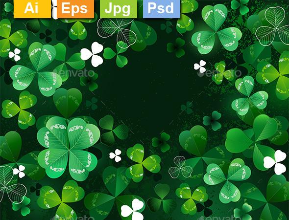 Background with Shamrock - Backgrounds Decorative