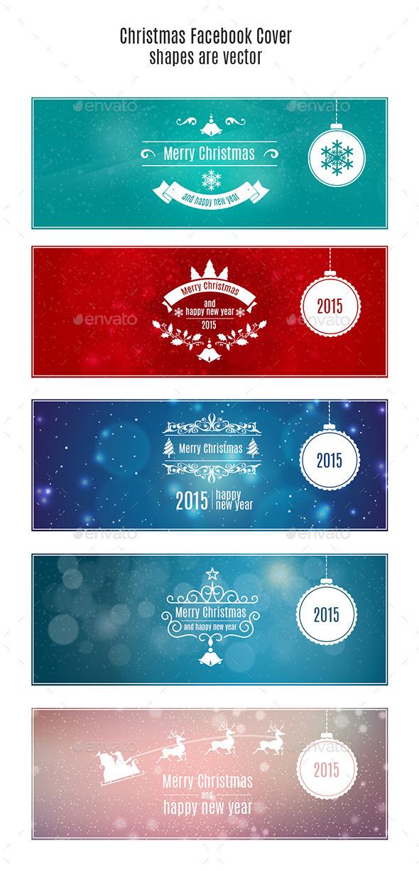 Christmas Facebook Cover - Social Media Web Elements