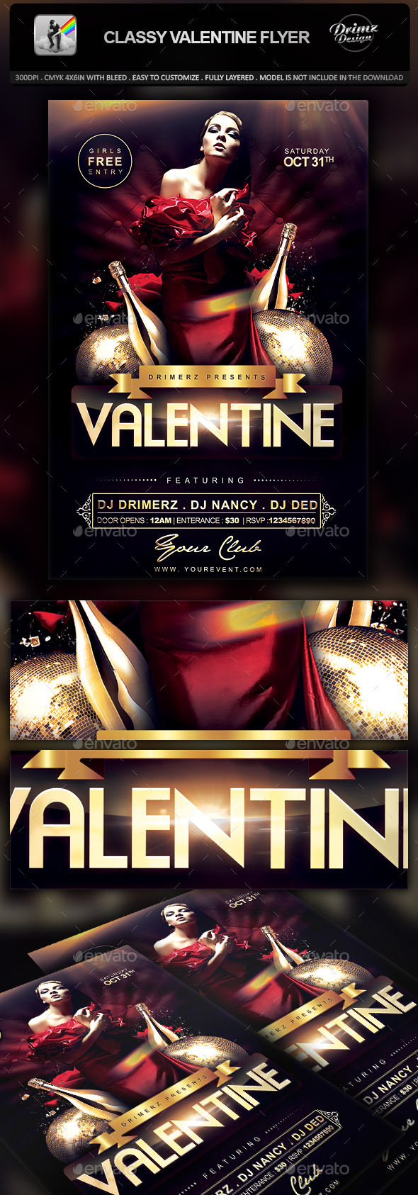 Classy Valentine Flyer - Events Flyers