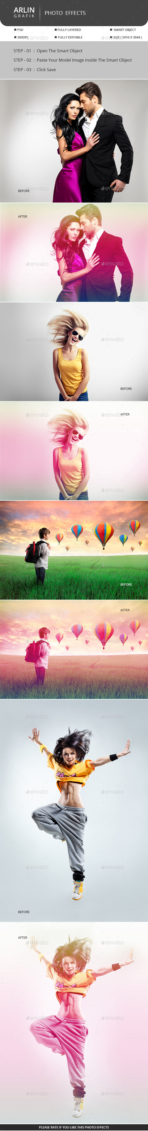 Rainbow Photo Display  - Photo Templates Graphics