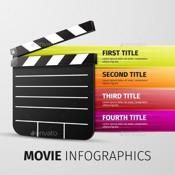 Movie Infographics - Decorative Symbols Decorative