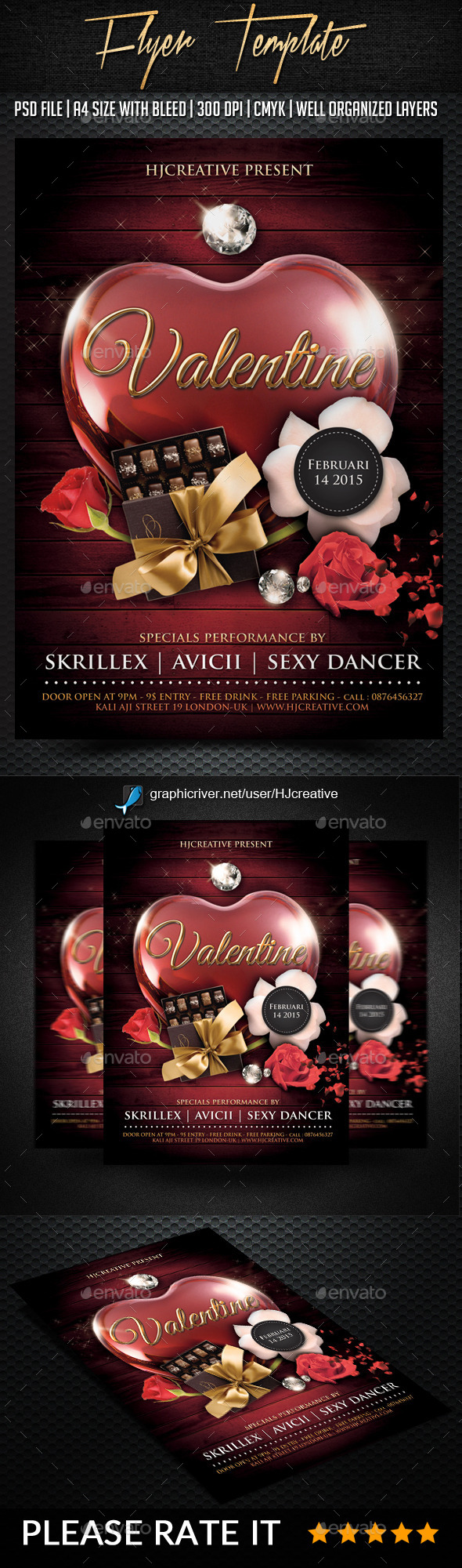 Valentine Poster Flyer Template Vol. 1 - Clubs & Parties Events