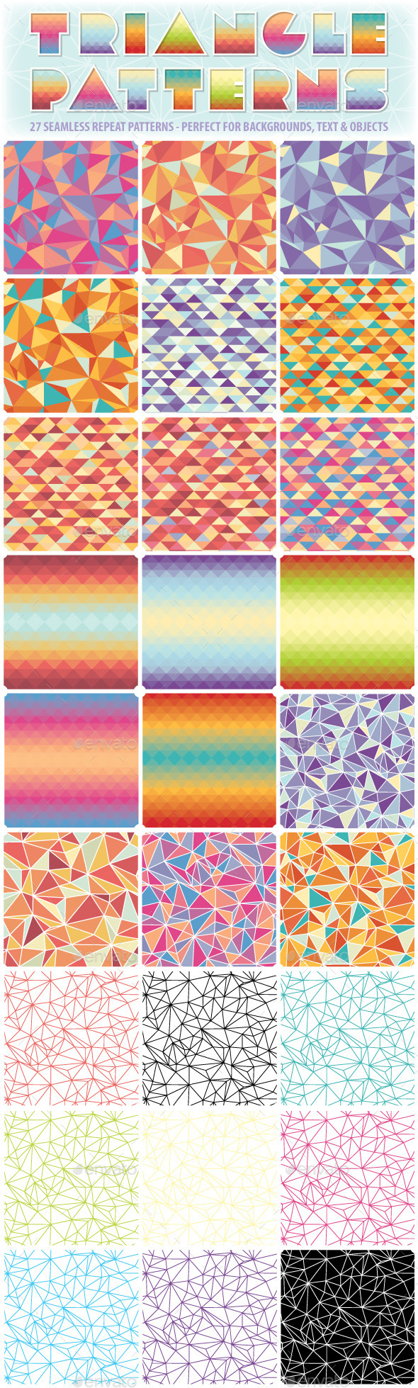 Triangle Repeat Patterns - Patterns Decorative