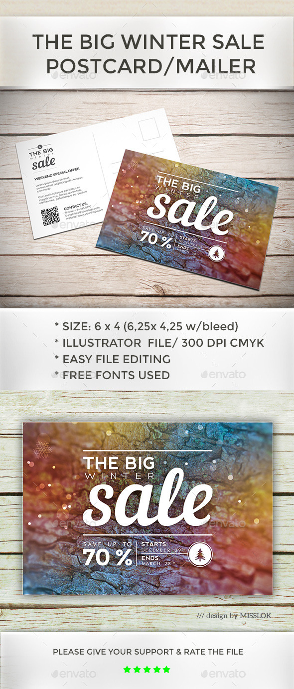Big Winter Sale - Flyers Print Templates