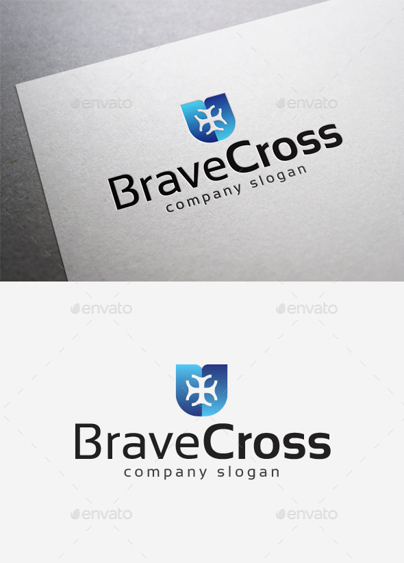 Brave Cross Logo - Symbols Logo Templates