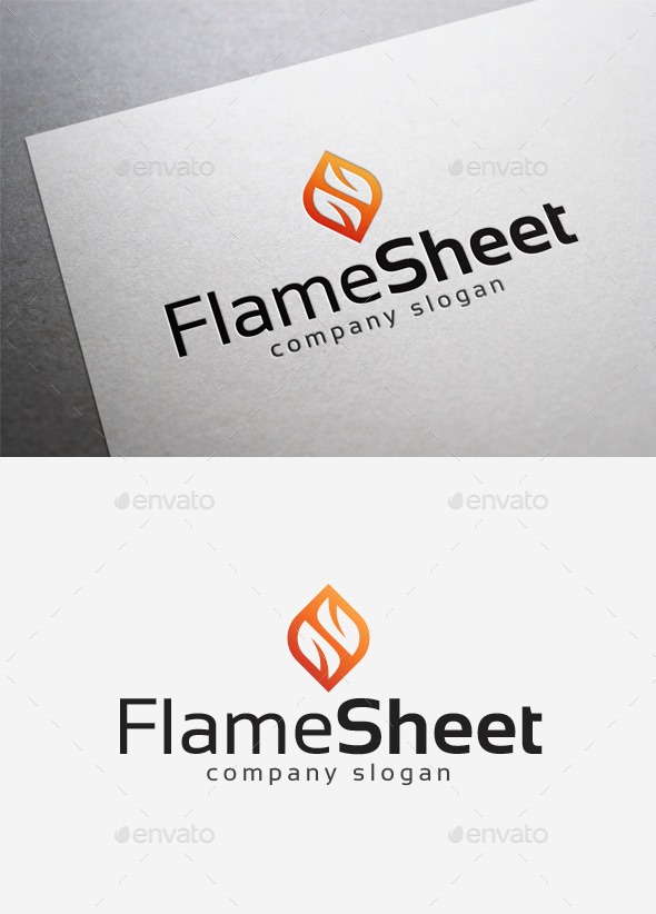 Flame Sheet Logo - Abstract Logo Templates