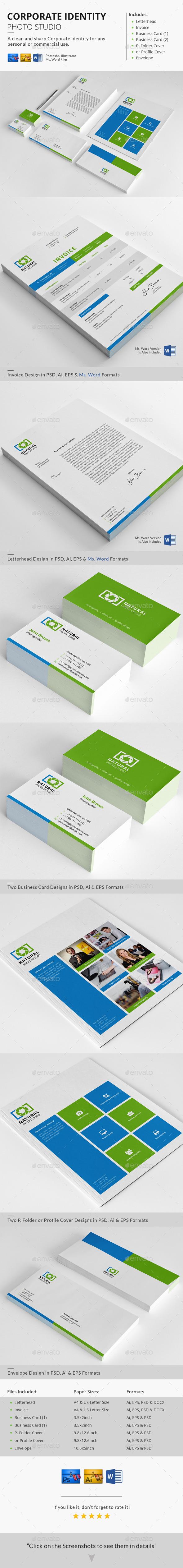 Corporate Identity - Photo Studio - Stationery Print Templates