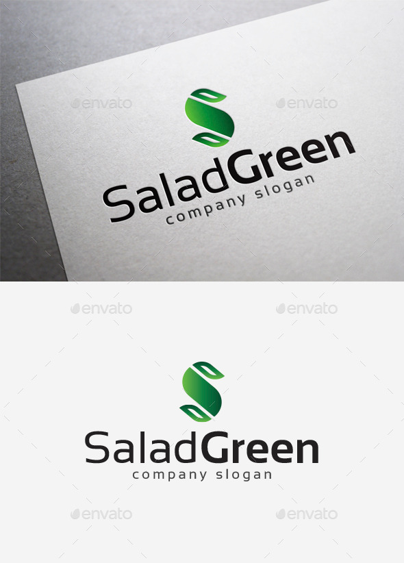 Salad Green Logo - Letters Logo Templates