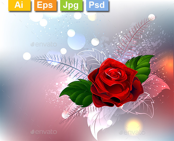Red Rose - Decorative Vectors