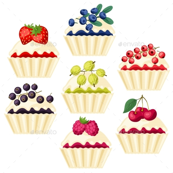 Cupcakes with Various Fillings - Nature Conceptual