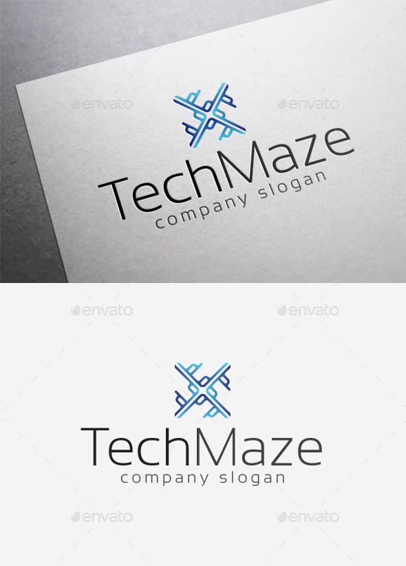 Tech Maze Logo - Abstract Logo Templates