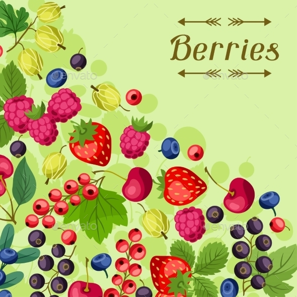 Berries Background - Nature Conceptual