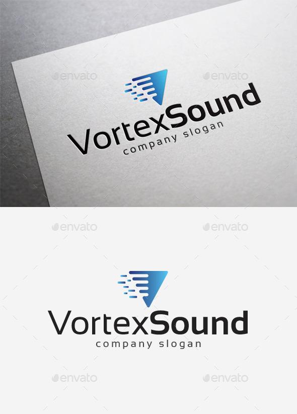 Vortex Sound Logo - Letters Logo Templates