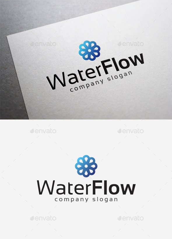 Water Flow Logo - Abstract Logo Templates