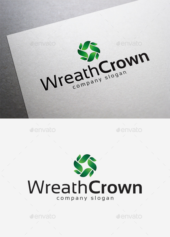 Wreath Crown Logo - Abstract Logo Templates