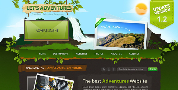 Let's Adventures – 4 Page Photoshop design