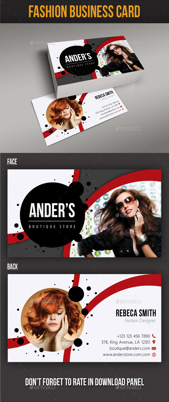 Fashion Business Card 09 - Industry Specific Business Cards