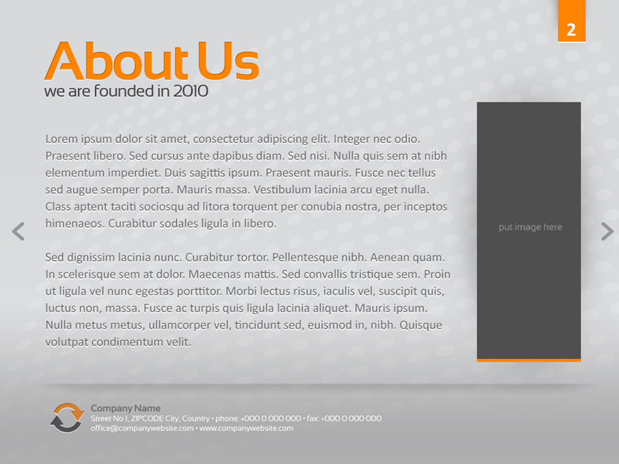 orange gray powerpoint template by alanmolnar