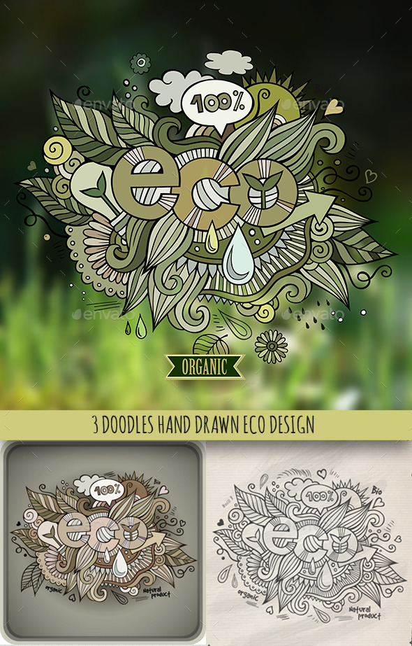 3 Eco Doodles Designs - Health/Medicine Conceptual