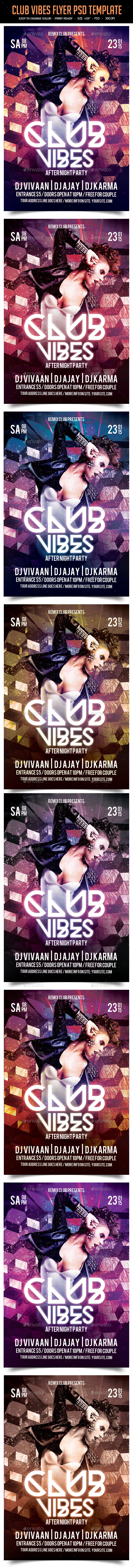 Club Vibes Flyer PSD Template - Clubs & Parties Events