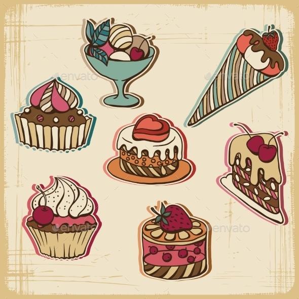 Cakes in Retro Style - Birthdays Seasons/Holidays